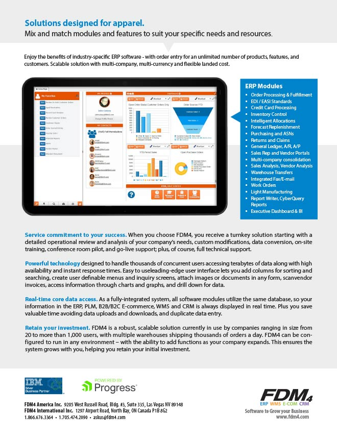 Download FDM4's ERP for Apparel Brief