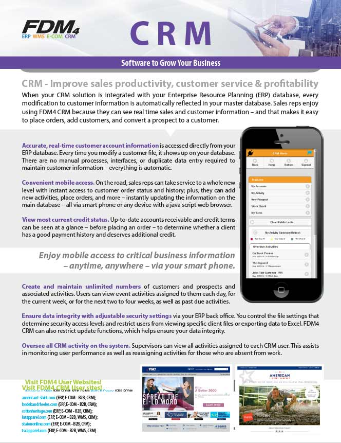 CRM Product Brochure Page 1
