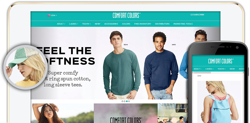 Click to view the Comfort Colors Website
