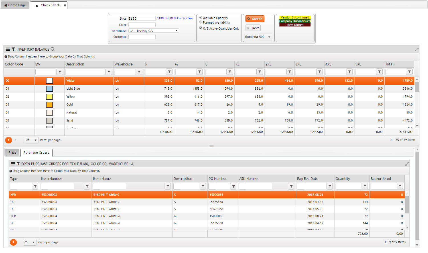 Inventory Control Check Stock On FDM4 V15 Web-based ERP