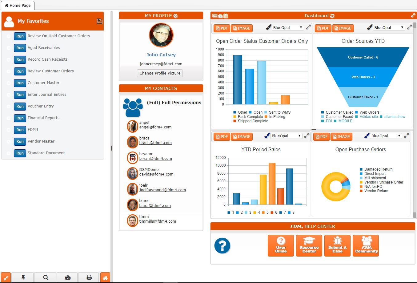 ERP for Apparel Click And Drag Dashboards
