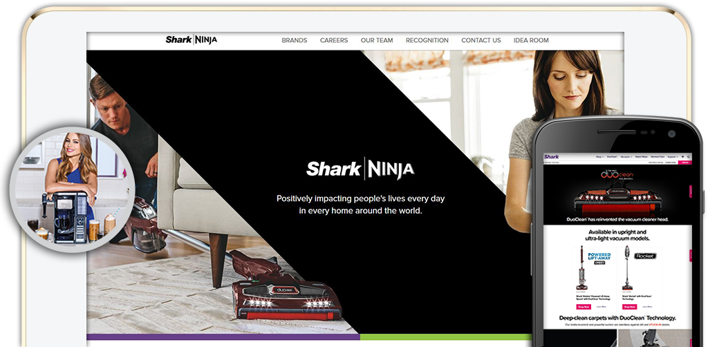 Click to view Shark Ninja Website.