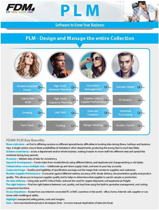 Page One of FDM4's PLM Brochure