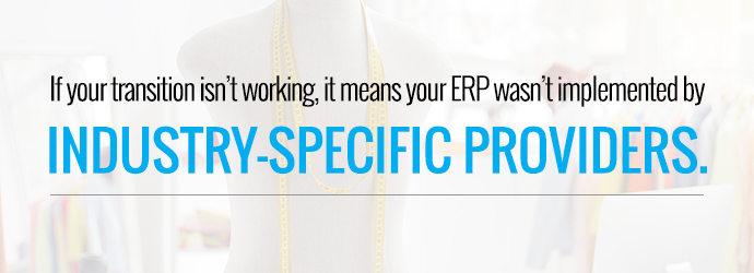 Industry-specific ERP is the best for a successful software transition