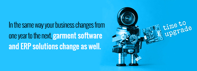 Garment software and ERP solutions change year to year