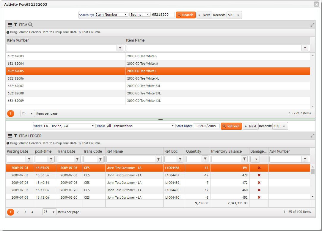 Inventory Ledger On FDM4 V15 Web-based ERP