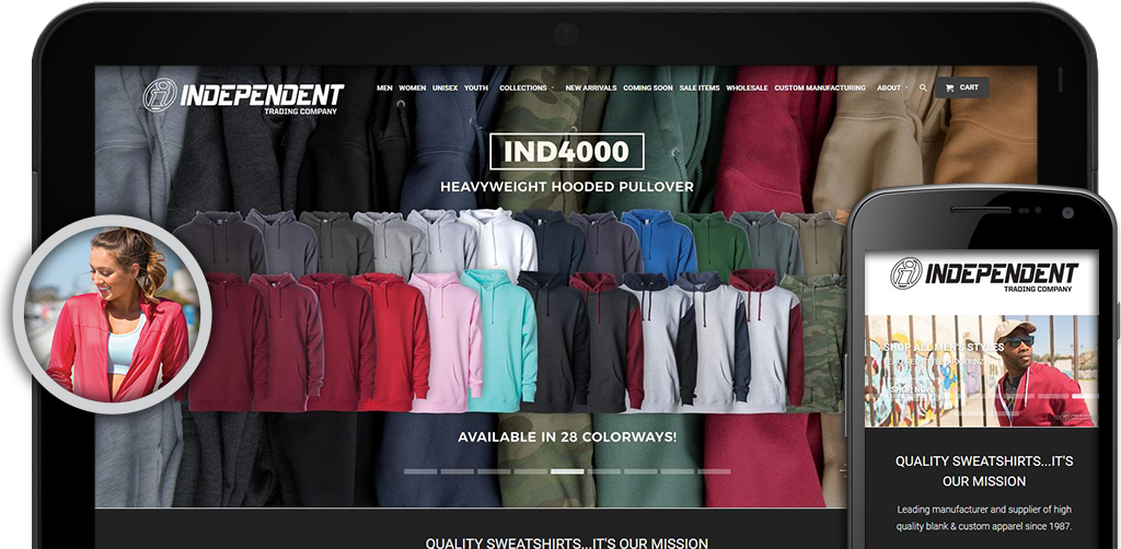 Screenshot of Independent Trading Company website