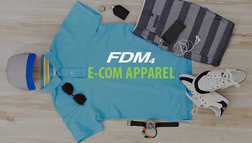 E-com apparel solution with outfit and accessories laid out