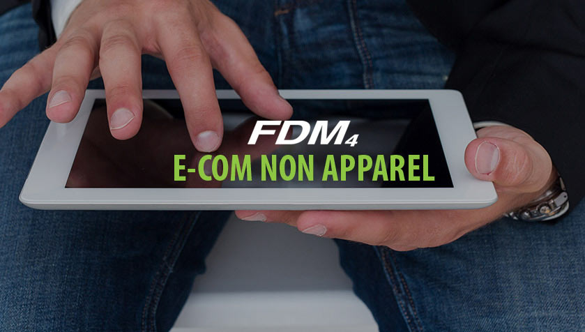 Person on Ipad Check Their E-Com Non Apparel Software From FDM4
