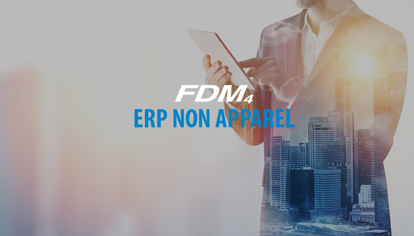 ERP non-apparel solution image with business man using tablet