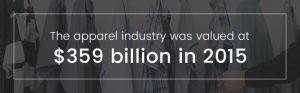 apparel industry is valued at 359 billion dollars