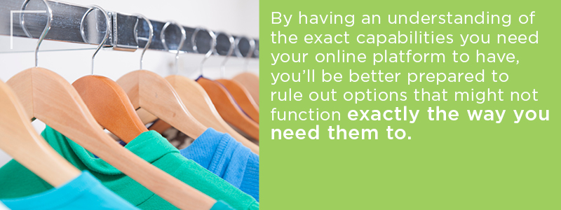 Need to have an understanding of what you need to find the best option for your apparel business