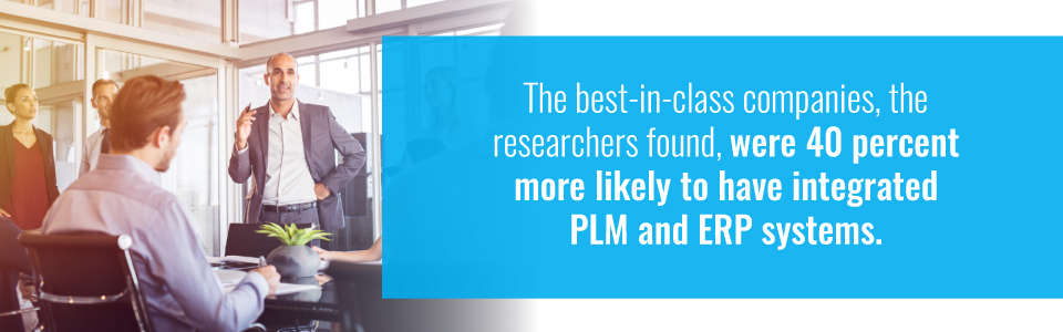 Forty percent of best-in-class companies likely to have integrated PLM and ERP systems