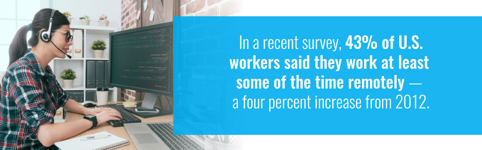 More US workers are working remotely
