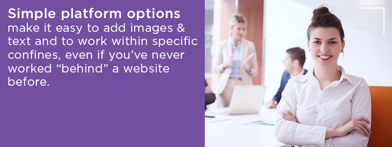 Simple platforms make it easy to add images and text