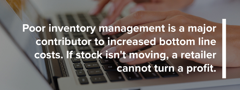 Poor inventory management increases bottom line costs