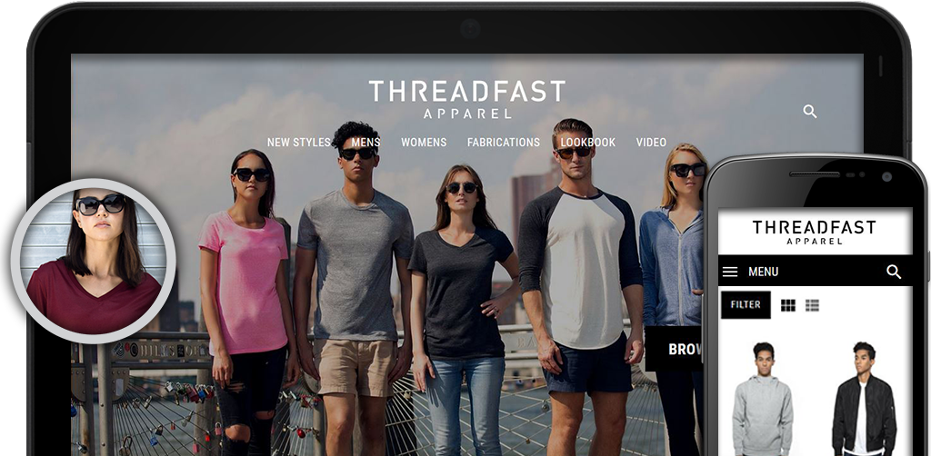 Threadfast Apparel website screenshots