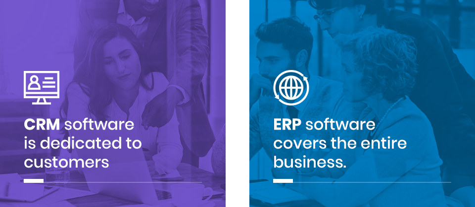 Main difference between ERP and CRM