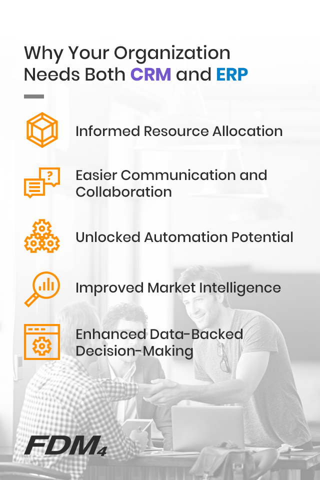 Reasons an organization needs both CRM and ERP systems