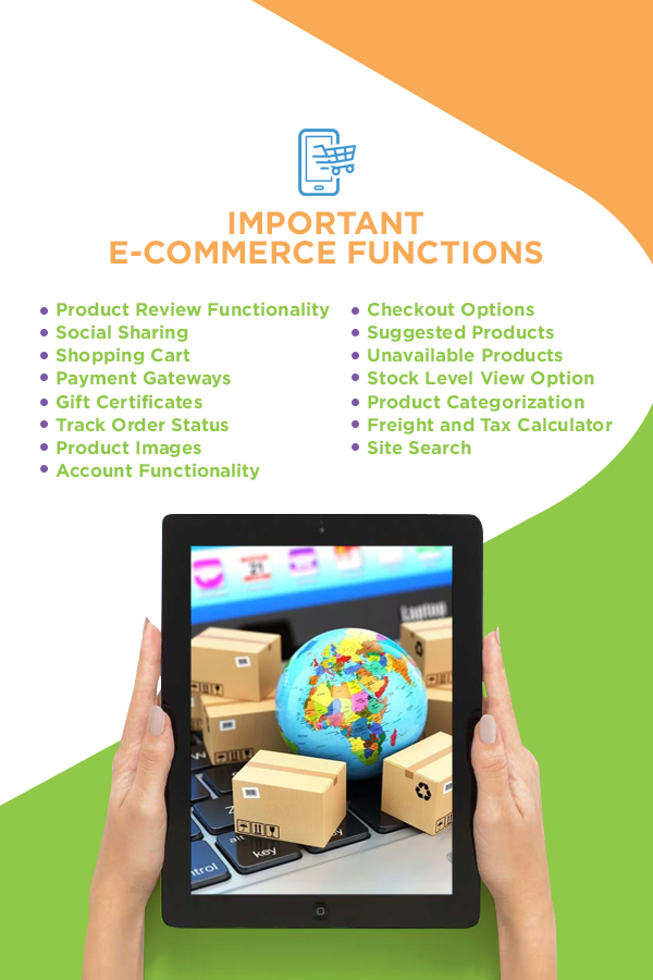 List of important e-commerce functions