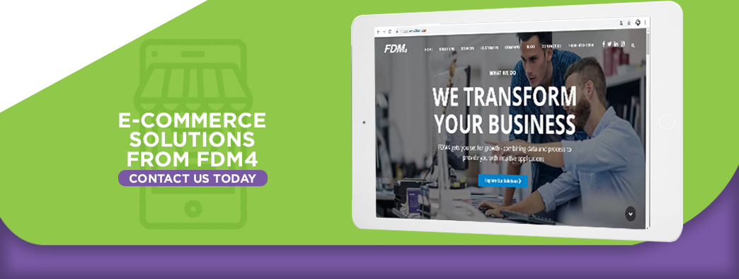 E-commerce solutions from FDM4 contact us call to action
