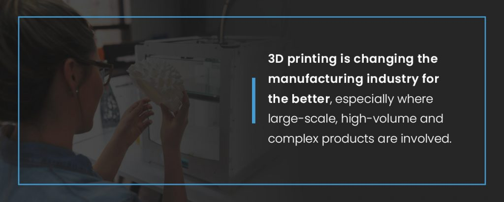 3D printing is changing the manufacturing industry