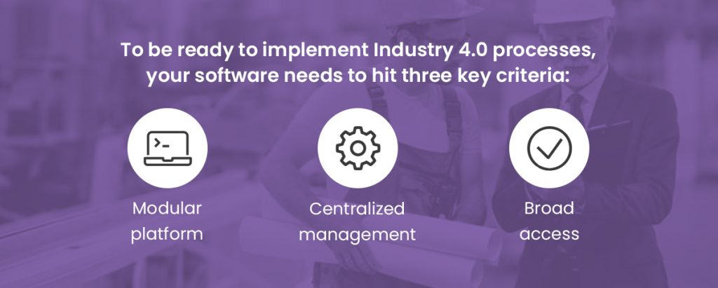 Three requirements to implement industry 4.0 processes