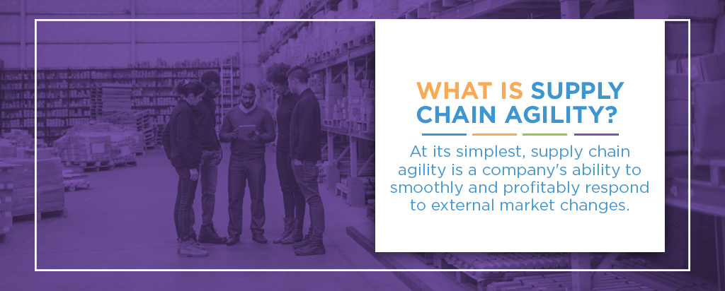 Supply chain agility is a company's ability to respond to market changes