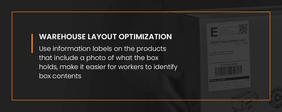 Using information labels on products with images makes it easy to identify box contents